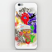 fear and loathing iPhone & iPod Skins featuring GONZO Fear and Loathing Print by Just Bailey Designs .com