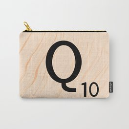 Scrabble Letter Q - Large Scrabble Tiles Carry-All Pouch