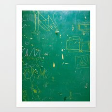 BlackBoardSchool Art Print