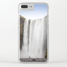 Skógafoss Waterfall Clear iPhone Case