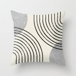 Sun Arch Double - Grey Throw Pillow