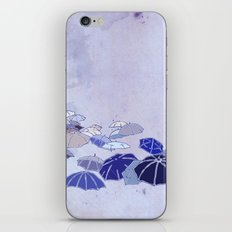 Rainy day blues iPhone & iPod Skin
