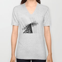 Power Lines Unisex V-Neck