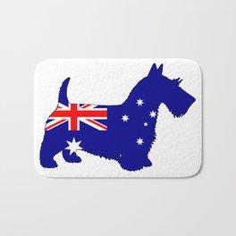 Australian Flag - Scottish Terrier Bath Mat
