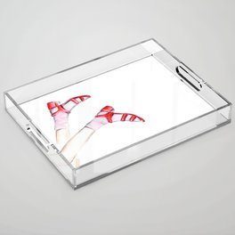 Red shoes Acrylic Tray
