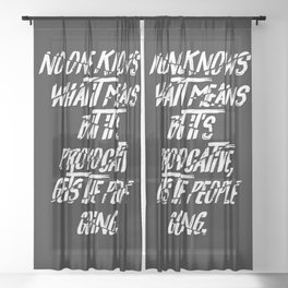 No One Knows What It Means But It's Provocative, It Gets The People Going. Sheer Curtain