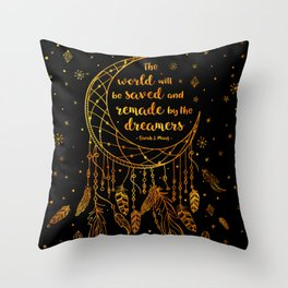 Saved and Remade - gold Throw Pillow
