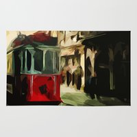 istanbul Area & Throw Rugs featuring Istanbul by pinarinadresi