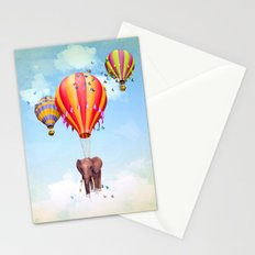 Elephant first fly Stationery Cards