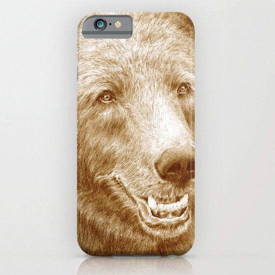 Brown bear is happy iPhone & iPod Case