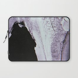 Slipping Away: an abstract mixed-media piece in black and white by Alyssa Hamilton Art Laptop Sleeve
