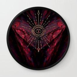 Scarlet Heart Mineral Eye Wall Clock