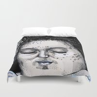 laura palmer Duvet Covers featuring Laura Palmer by Drawn by Nina