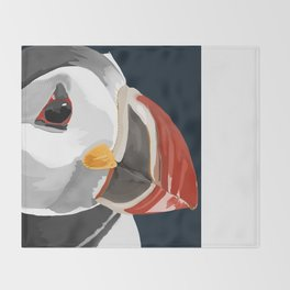 Pablo the Puffin Throw Blanket