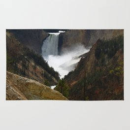 Thundering Waters Of The Yellowstone River Rug