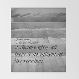 Jane Austen Reading Throw Blanket