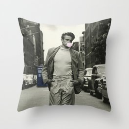 Time Traveler & Bubble Gum Throw Pillow