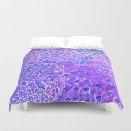 Ultra Violet Watercolor Painting Duvet Cover