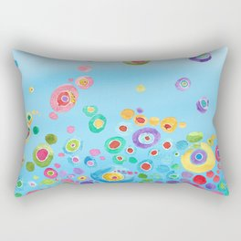 Inner Circle - Blue Rectangular Pillow