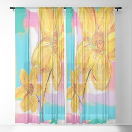 IS IT SPRING YET? Sheer Curtain