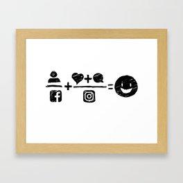 Equations Framed Art Print