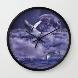Having a whale of a time Wall Clock