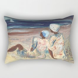 On the Beach by Victor Laredo Rectangular Pillow