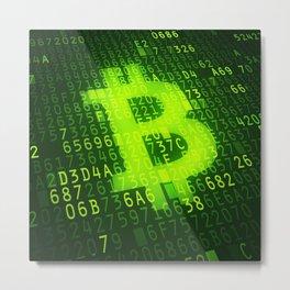 Bitcoin & Blockchain Metal Print