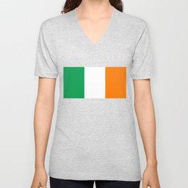 Irish national flag - Flag of the Republic of Ireland, (High Quality Authentic Version) Unisex V-Neck