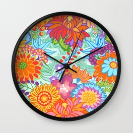 Jubilee Blooms Wall Clock