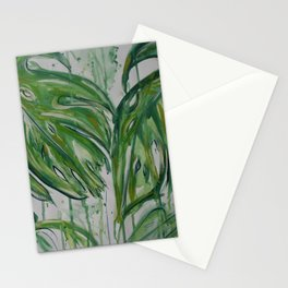 Green Monster Leaves Stationery Cards