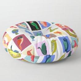 Colorful birds Floor Pillow