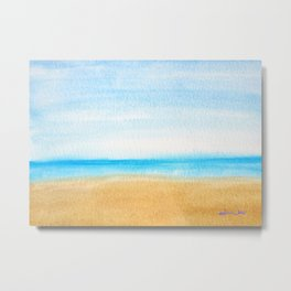 Just the Ocean and I Metal Print