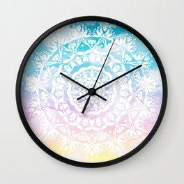 Pastel Clouds Mandala Wall Clock