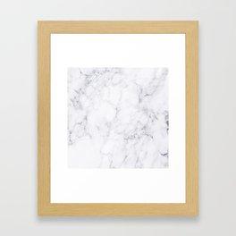Luxury White Marble Framed Art Print