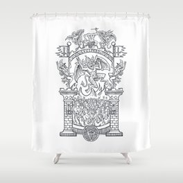 Satanic Rock Shower Curtain