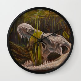 Lily Gator Wall Clock