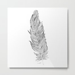 Light as a Feather Metal Print