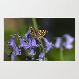 Butterfly on Bluebells Rug