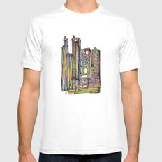 North Point White MEDIUM Mens Fitted Tee