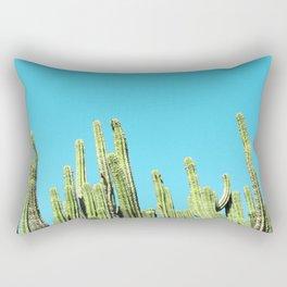 Desert Cactus Reaching for the Blue Sky Rectangular Pillow