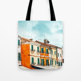Burano Island #painting #digitalart #travel Tote Bag
