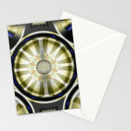 Pinwheel Hubcap in Sepia Stationery Cards