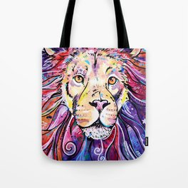 The Chief - Lion painting Tote Bag