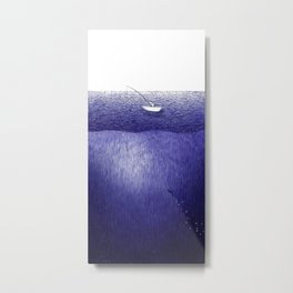 ballpoint pen ocean fishing Metal Print