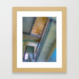 Lost Places _771, Beelitz Heilstaetten stairs Framed Art Print