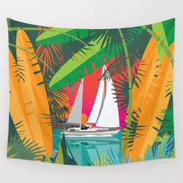 Sailing To Delos Revisited Wall Tapestry
