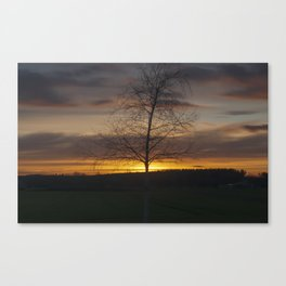 Sunset at the end of town Canvas Print