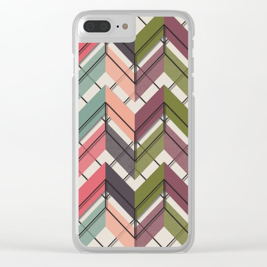 Fill & Stroke V Clear iPhone Case