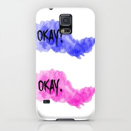 The Fault In Our Stars Okay watercolur. iPhone Case